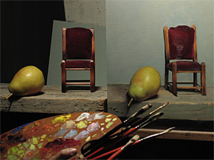 A student's still life set up